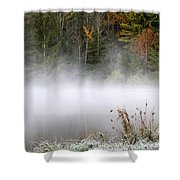 October Frost Landscape Shower Curtain by Christina Rollo