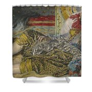 Odalisque Shower Curtain by Pierre Auguste Renoir