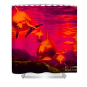 Odyssey v2 - square Shower Curtain by Wingsdomain Art and Photography