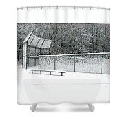Off Season Shower Curtain by Ann Horn