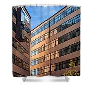 Office Building Malmo Shower Curtain by Antony McAulay