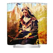 Oglala Homeland Shower Curtain by Lianne Schneider