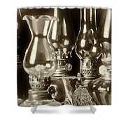 Oil Lamps Shower Curtain by Patrick M Lynch