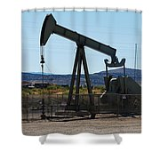 Oil Well  Pumper Shower Curtain by Dany Lison