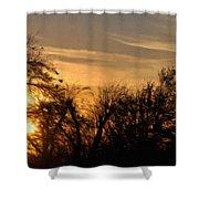 Oklahoma Sunset Shower Curtain by Jeff Kolker