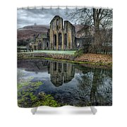 Old Abbey Shower Curtain by Adrian Evans