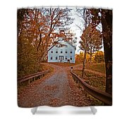 Old Academy South Woodstock Shower Curtain by Edward Fielding