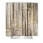 Old Bamboo Fence Shower Curtain by Alexander Senin