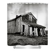 Old Barn Shower Curtain by Dave Bowman