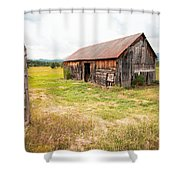 Old Barn On Highway 86 - Rustic Barn Shower Curtain by Gary Heller