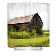 Old Barn On Seneca Lake - Finger Lakes - New York State Shower Curtain by Gary Heller