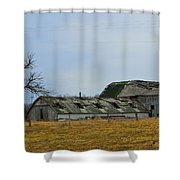 Old Barns In The Heartland Shower Curtain by Alys Caviness-Gober
