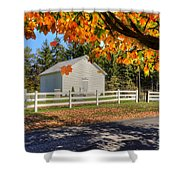 Old Bethel Church 1842 Shower Curtain by Dan Friend