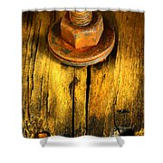 Old Bolt Shower Curtain by Newel Hunter