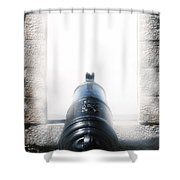 Old Cannon Shower Curtain by Joana Kruse
