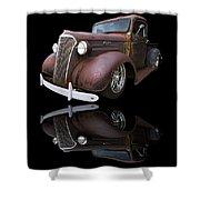 Old Chevy Shower Curtain by Debra and Dave Vanderlaan
