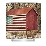 Old Country America Shower Curtain by Trish Tritz