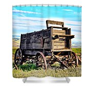 Old Covered Wagon Shower Curtain by Athena Mckinzie