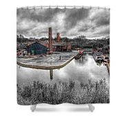 Old Dock Shower Curtain by Adrian Evans