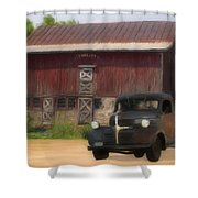 Old Dodge Truck Shower Curtain by Jack Zulli