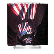 Old Glory In Vegas Shower Curtain by John Malone