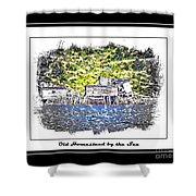 Old Homestead By The Sea Shower Curtain by Barbara Griffin