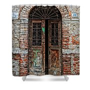 Old Italian Doorway Shower Curtain by Mountain Dreams