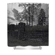 OLD LIBERTY PARK RUINS in Spokane Washington Shower Curtain by Daniel Hagerman