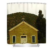 Old Lincoln City Church Shower Curtain by Jeff Swan