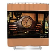 Old Mantelpiece Clock Shower Curtain by Kaye Menner