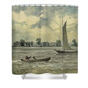 Old Quarantine Station Circa 1857 Shower Curtain by Aged Pixel