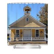 Old Sacramento California Schoolhouse 5D25544 Shower Curtain by Wingsdomain Art and Photography
