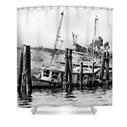 Old Salty Shower Curtain by Debra Forand