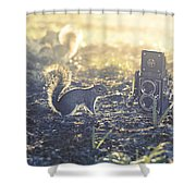 Old School Shower Curtain by Laura Fasulo