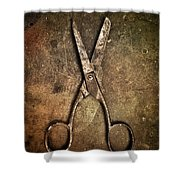Old Scissors Shower Curtain by Carlos Caetano