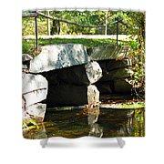Old Stone Bridge Shower Curtain by Barbara McDevitt