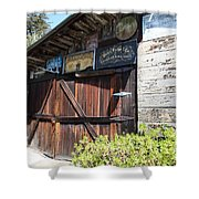 Old Storage Shed At the Swiss Hotel Sonoma California 5D24459 Shower Curtain by Wingsdomain Art and Photography