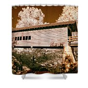 Old Time Covered Bridge Shower Curtain by Paul W Faust -  Impressions of Light