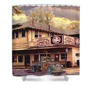 Old Town Irvine Country Store Shower Curtain by Ronald Chambers