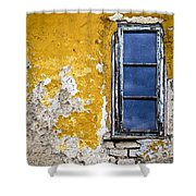 Old Wall In Serbia Shower Curtain by Elena Elisseeva