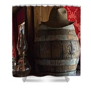 Old West Saloon Shower Curtain by Juli Scalzi