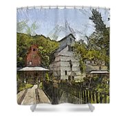 Old Weston Grain Elevator  Shower Curtain by Liane Wright