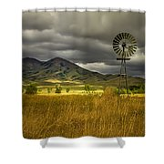 Old Windmill Shower Curtain by Robert Bales