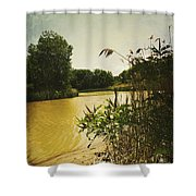 Old Woman Creek  Shower Curtain by Shawna Rowe