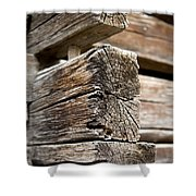 Old Wood Shower Curtain by Frank Tschakert