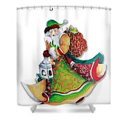 Old World Santa Christmas Art Original Painting By Megan Duncanson Shower Curtain by Megan Duncanson