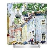 Oldtown Tallinn Estonian Shower Curtain by John D Benson