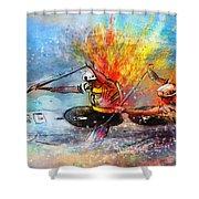 Olympics Canoe Slalom 05 Shower Curtain by Miki De Goodaboom