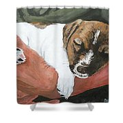 On Guard Shower Curtain by Michael Dillon