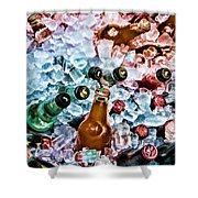 On Ice Shower Curtain by Lana Trussell
